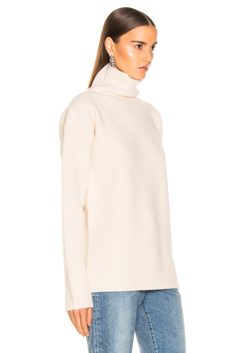 Image 2 of Sies Marjan Wolf Merino Turtleneck Sweater in Pearl