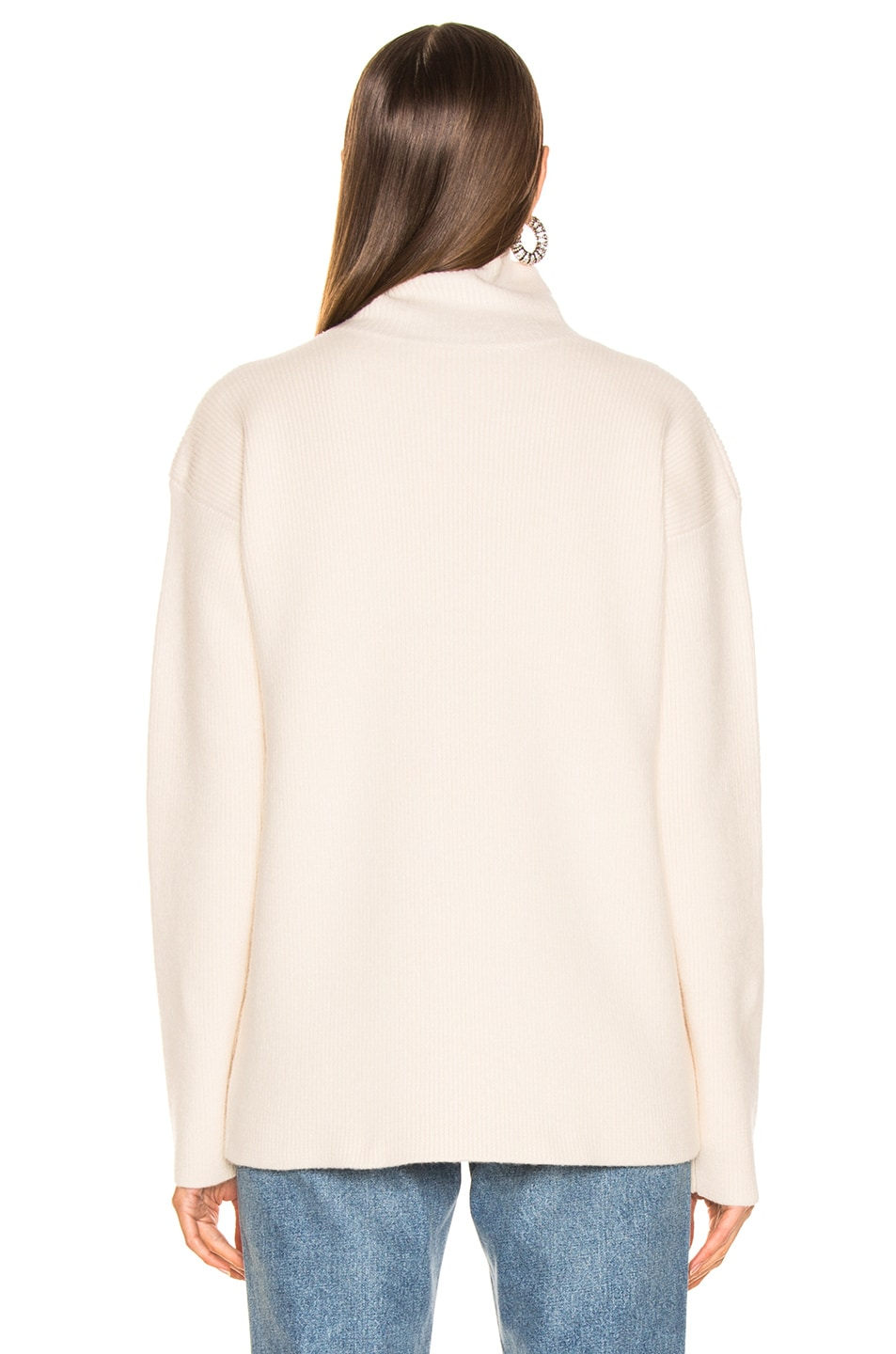 Image 3 of Sies Marjan Wolf Merino Turtleneck Sweater in Pearl