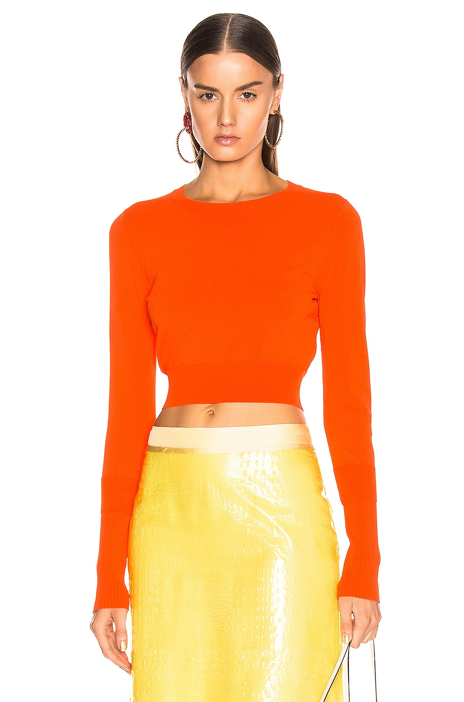 Image 1 of Sies Marjan Gwin Crop Crew Sweater in Blood Orange