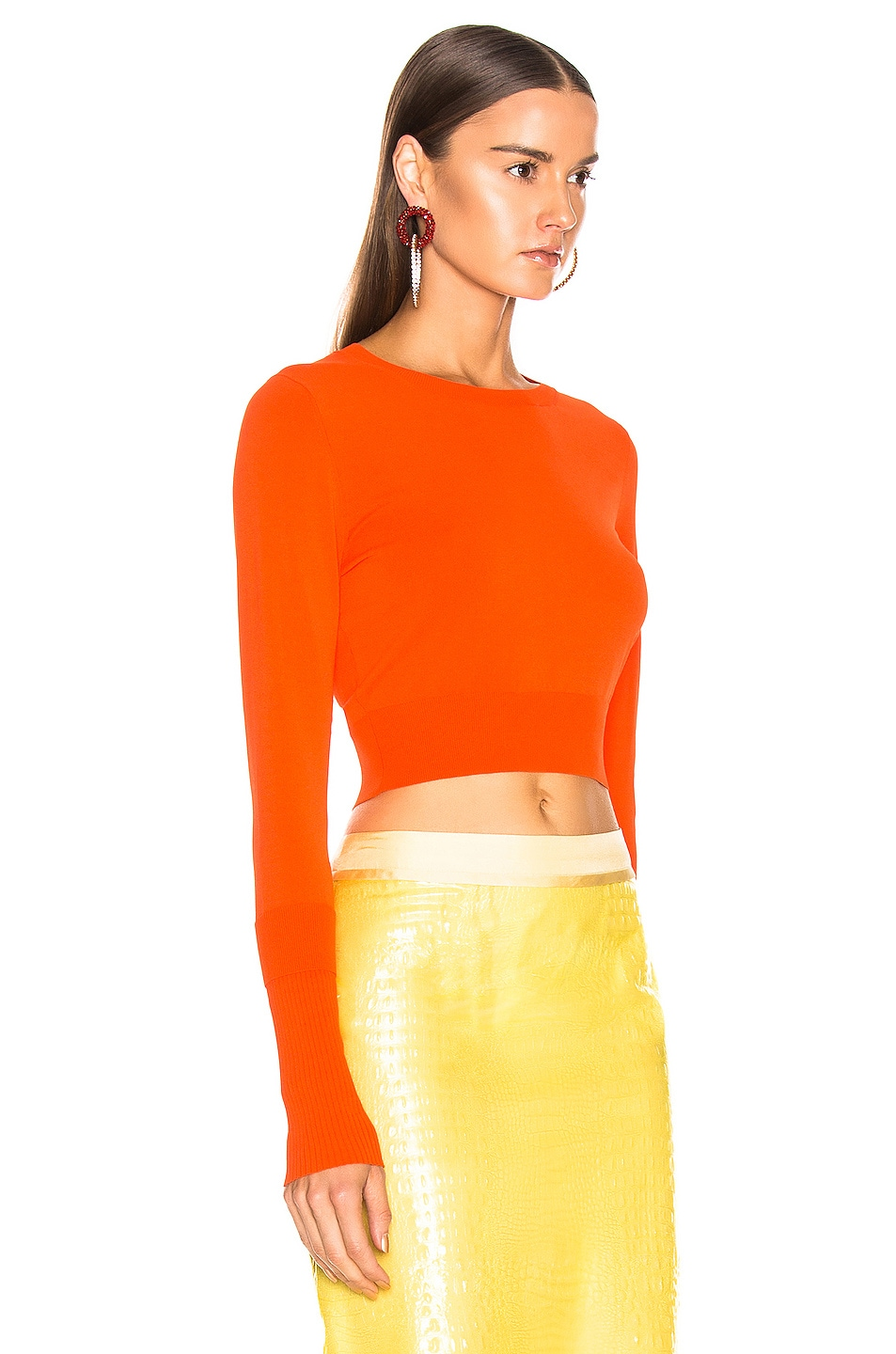 Image 2 of Sies Marjan Gwin Crop Crew Sweater in Blood Orange