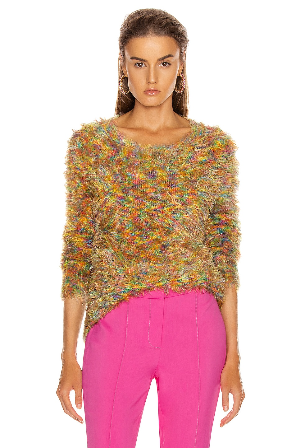 Image 1 of Sies Marjan Ange Multicolor Crewneck Sweater in Orange Multi
