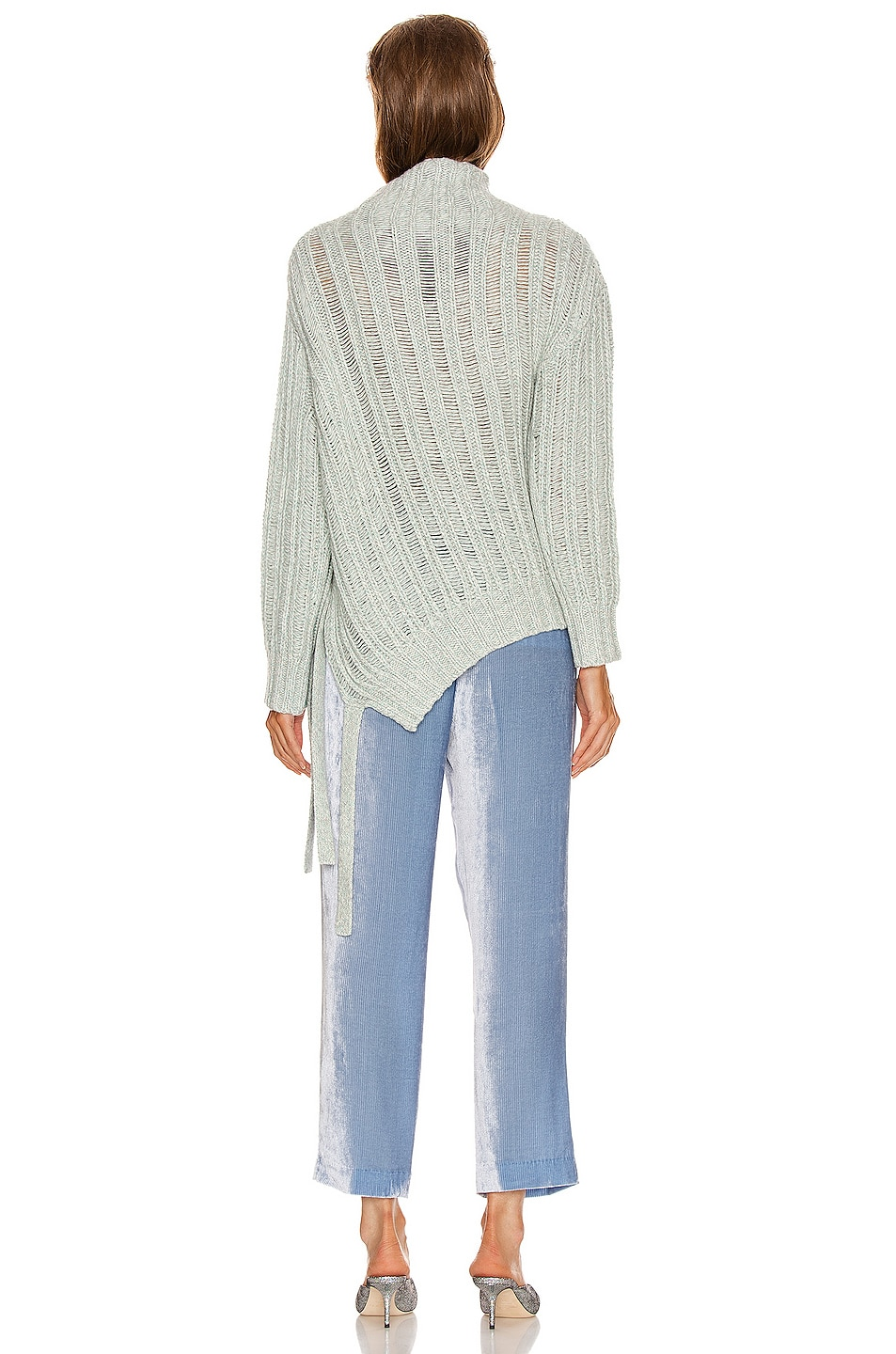 Image 4 of Sies Marjan Nancy Cashmere Turtleneck Sweater in Blue Mint Melange