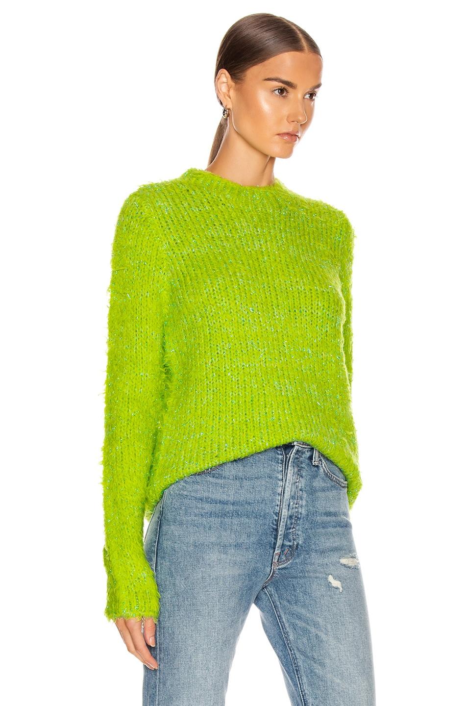 Image 2 of Sies Marjan Leta Fuzzy Slim Sweater in Lime & Iris Apple