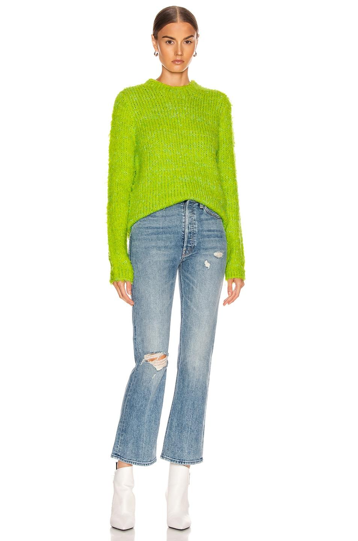 Image 4 of Sies Marjan Leta Fuzzy Slim Sweater in Lime & Iris Apple