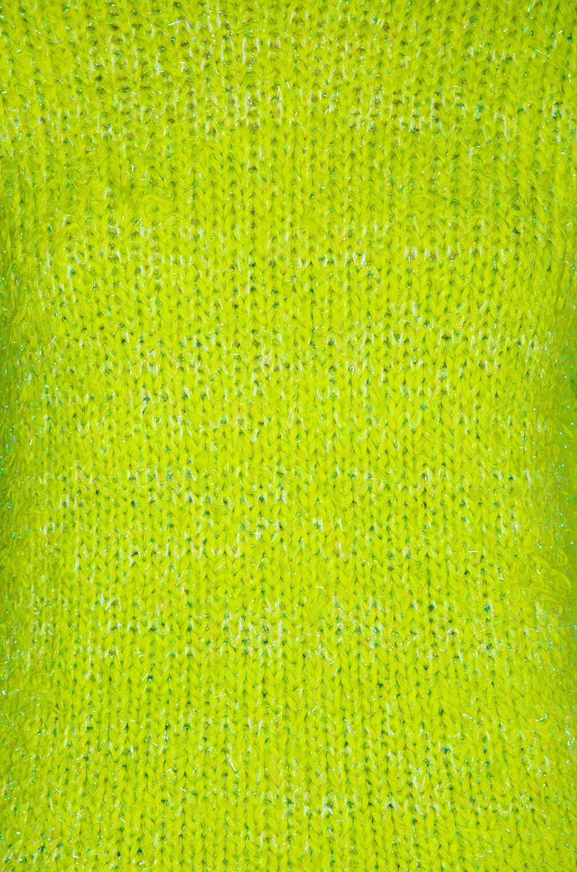 Image 5 of Sies Marjan Leta Fuzzy Slim Sweater in Lime & Iris Apple