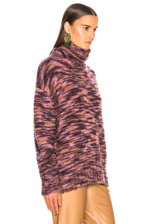 Image 2 of Sies Marjan Parker Turtleneck Sweater in Eggplant & Dark Chocolate