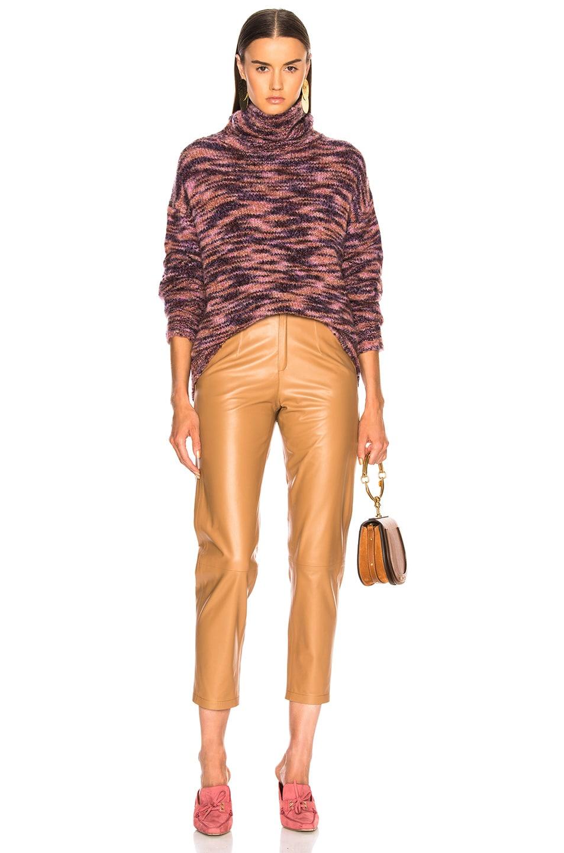 Image 4 of Sies Marjan Parker Turtleneck Sweater in Eggplant & Dark Chocolate