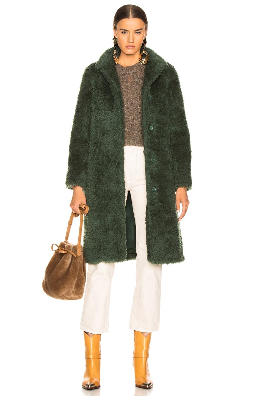 Image 1 of Sies Marjan Ripley Raglan Coat in Seaweed