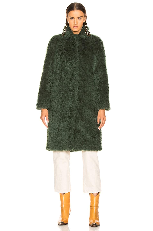 Image 2 of Sies Marjan Ripley Raglan Coat in Seaweed
