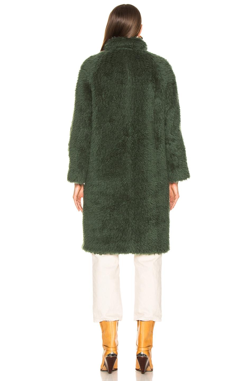 Image 4 of Sies Marjan Ripley Raglan Coat in Seaweed