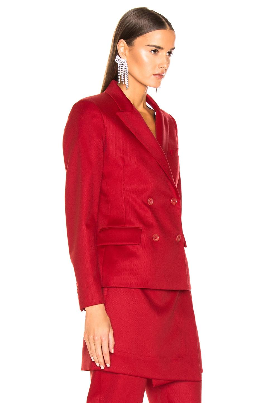 Image 3 of Sies Marjan Oni Woo Twill Blazer in Scarlet