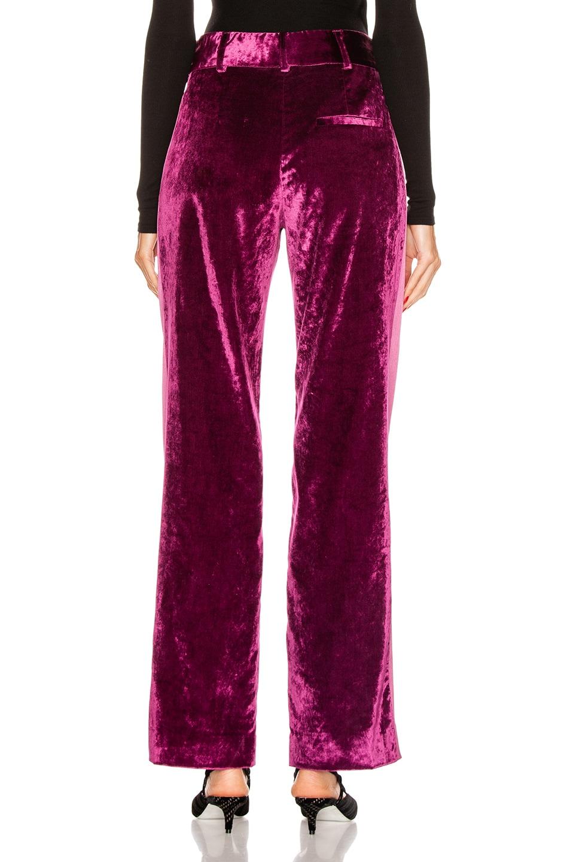 Image 4 of Sies Marjan Sonya Liquid Velvet Slim Pant in Raspberry