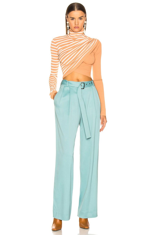 Image 5 of Sies Marjan Blanche Belted Pant in Soft Jade