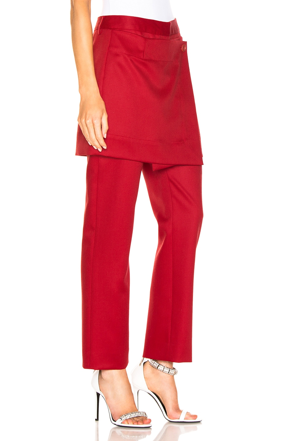Image 2 of Sies Marjan Judy Wool Twill Pant in Scarlet