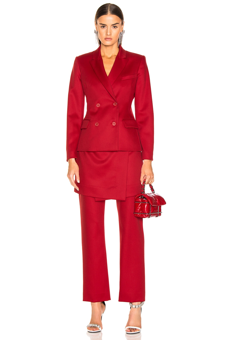 Image 4 of Sies Marjan Judy Wool Twill Pant in Scarlet