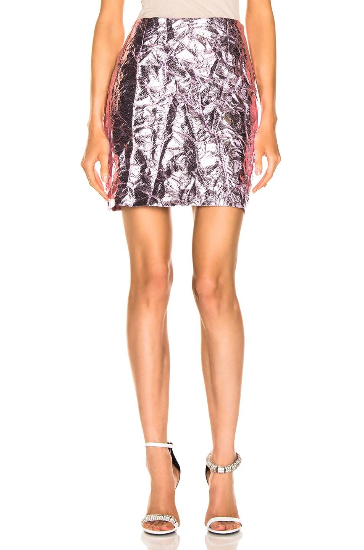 Image 1 of Sies Marjan Desiree Crinkle Mini Skirt in Soft Pink