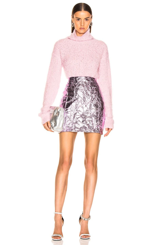 Image 4 of Sies Marjan Desiree Crinkle Mini Skirt in Soft Pink
