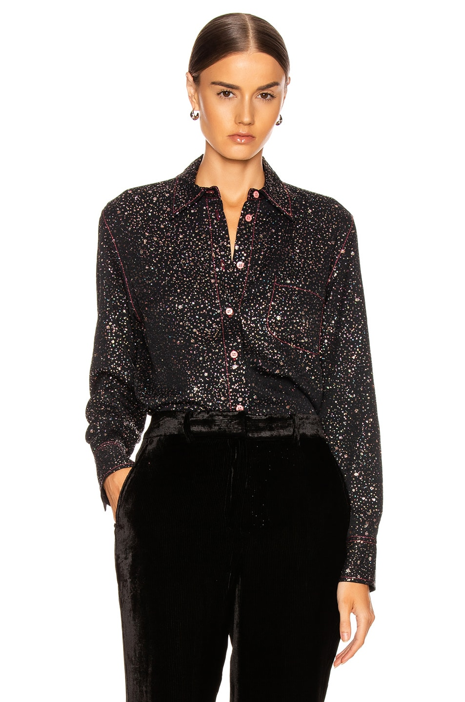 Image 1 of Sies Marjan Sander Glitter Marocaine Shirt in Black