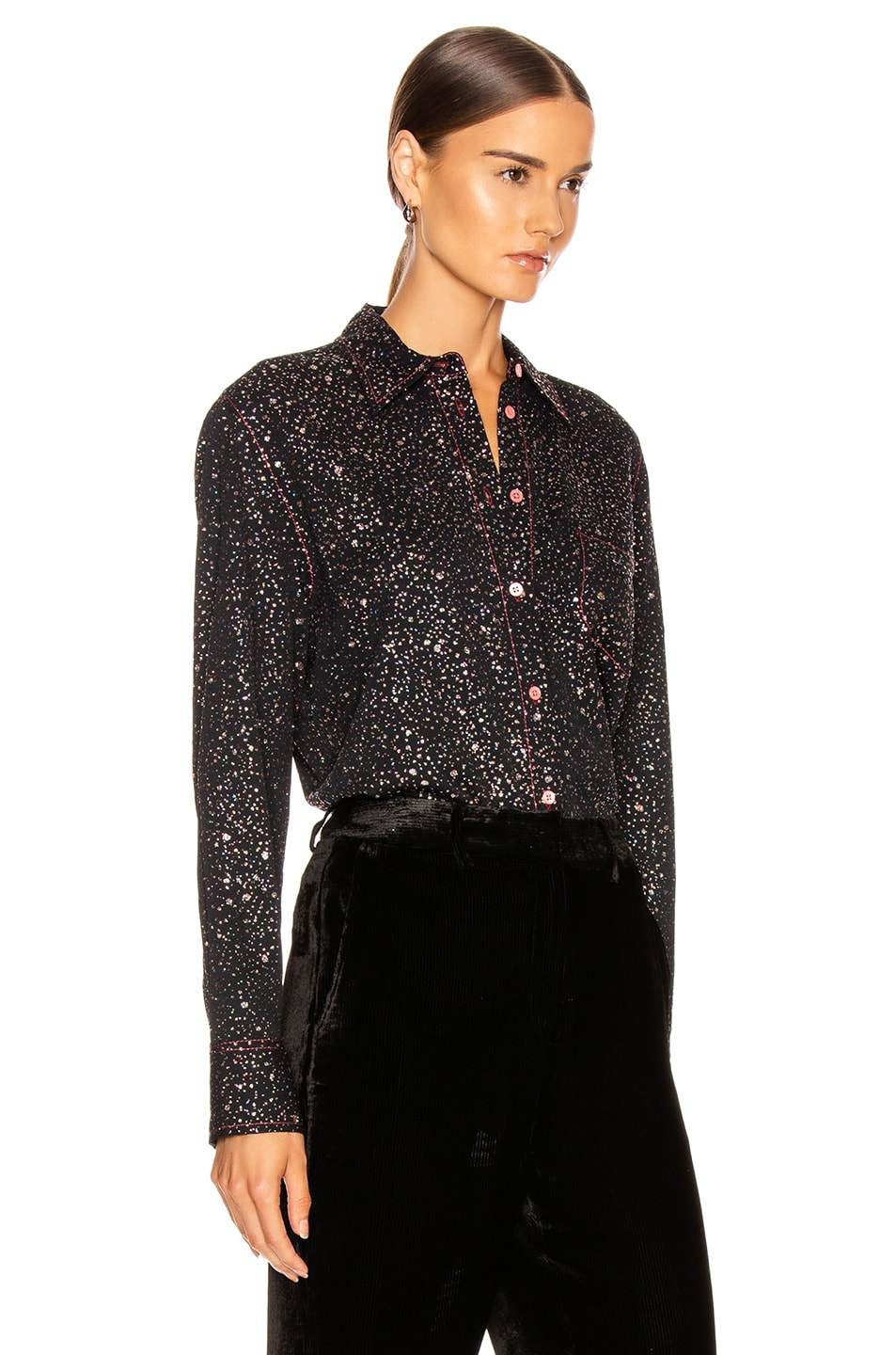 Image 2 of Sies Marjan Sander Glitter Marocaine Shirt in Black