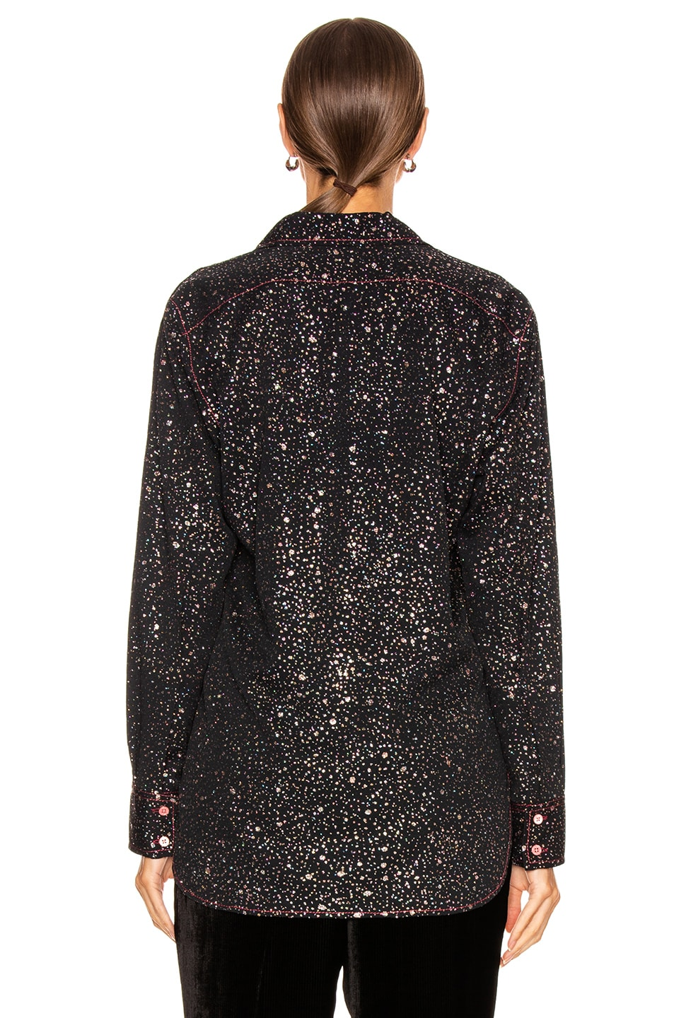 Image 3 of Sies Marjan Sander Glitter Marocaine Shirt in Black