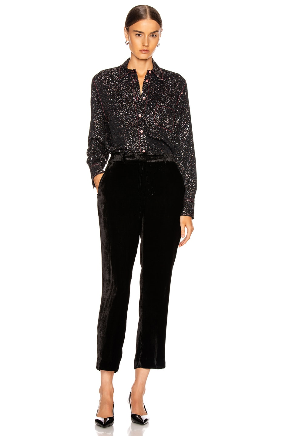 Image 4 of Sies Marjan Sander Glitter Marocaine Shirt in Black