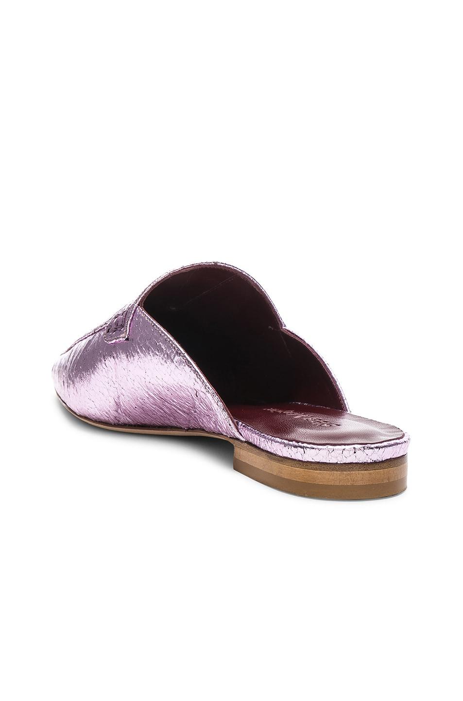 Image 3 of Sies Marjan Lia Metallic Pointed Mule in Soft Pink