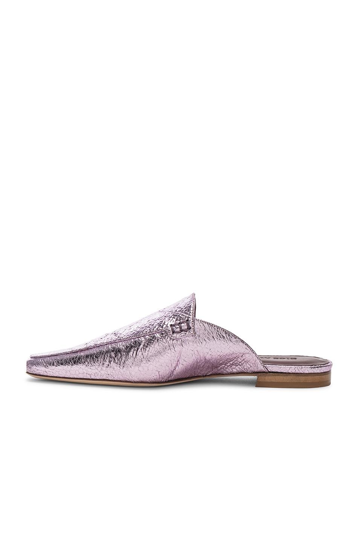 Image 5 of Sies Marjan Lia Metallic Pointed Mule in Soft Pink