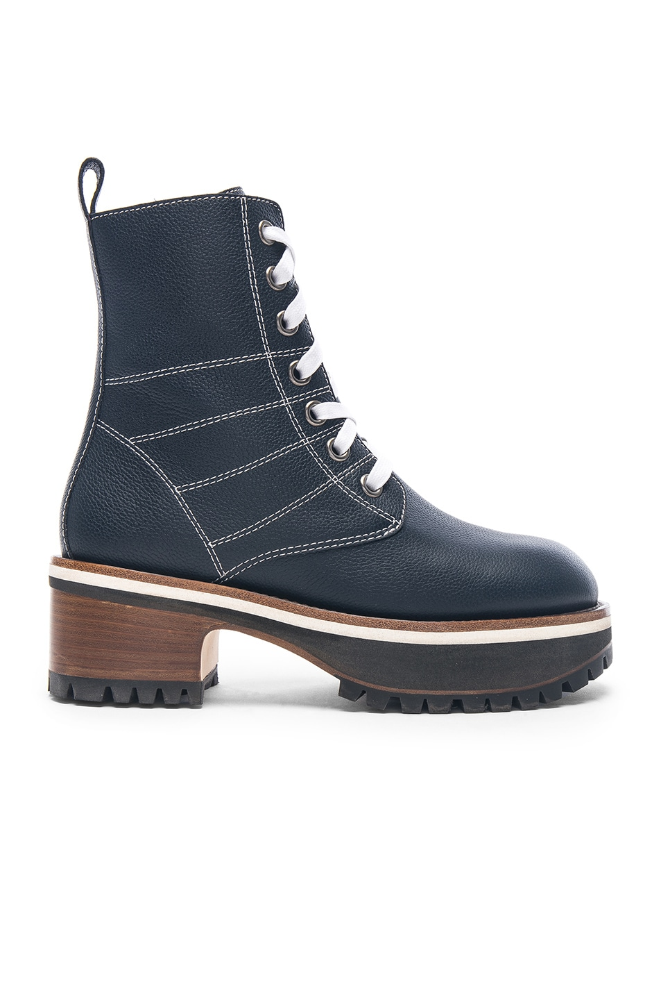 Sies marjan Leather Jessa Combat Boots in . 11A17