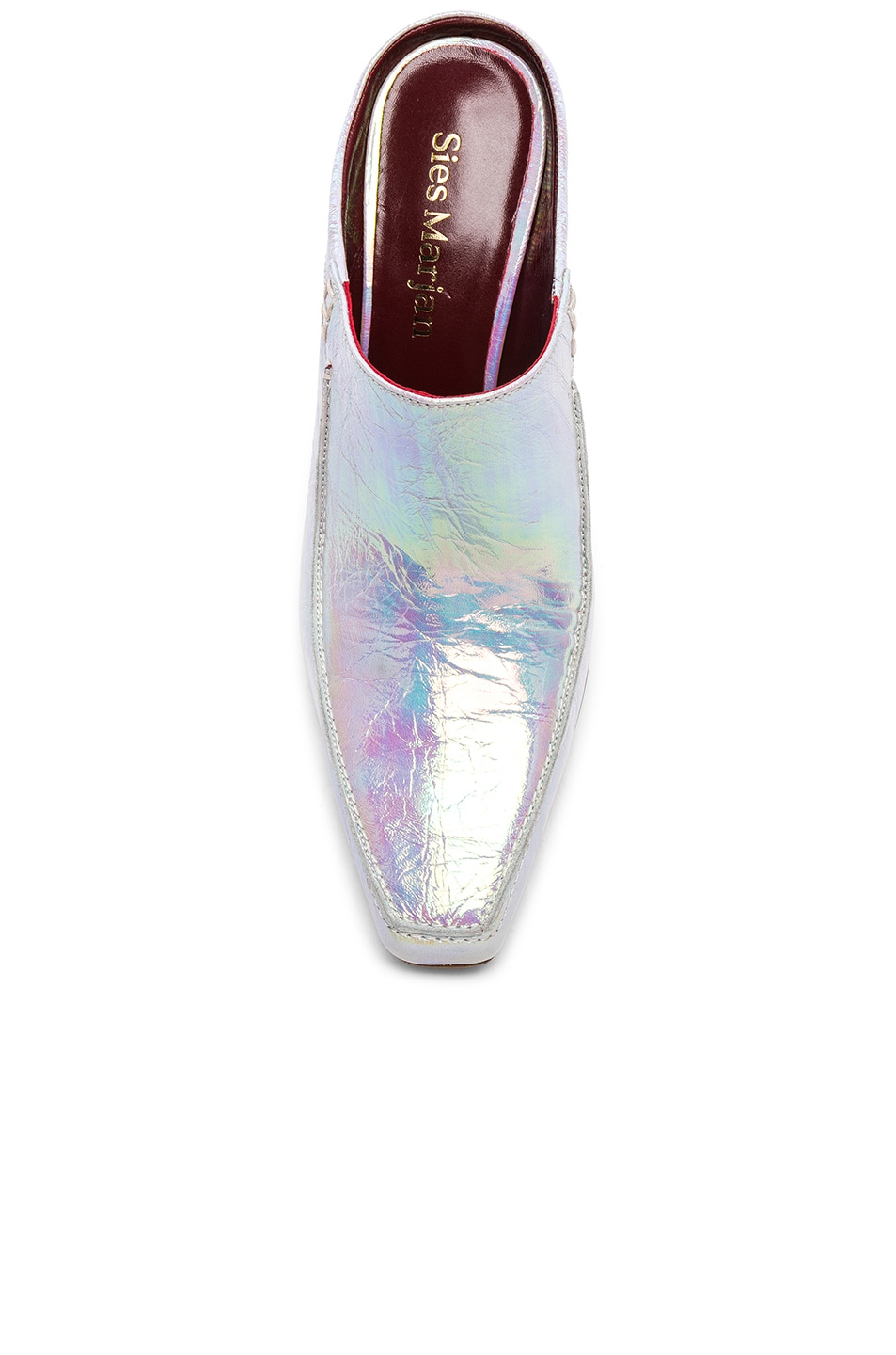 Image 4 of Sies Marjan Dena Holographic Loafer in Multicolored