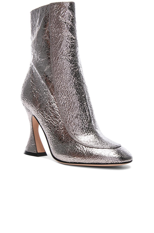 Sies marjan Emma Laminated Leather Crinkle Boot in Gunmetal. N4tJ5Akww