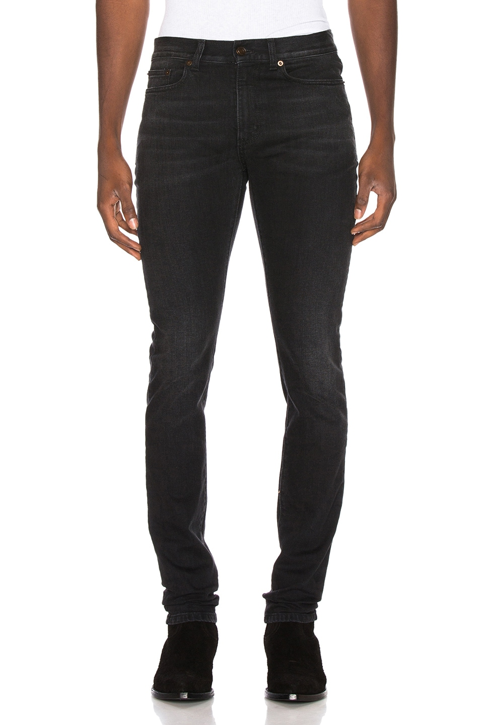 Image 1 of Saint Laurent Low Rise Skinny Jean in 3 Months Black