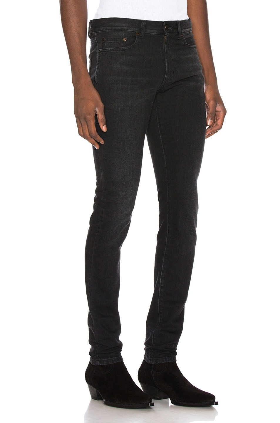 Image 2 of Saint Laurent Low Rise Skinny Jean in 3 Months Black