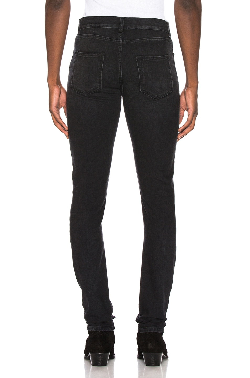 Image 3 of Saint Laurent Low Rise Skinny Jean in 3 Months Black