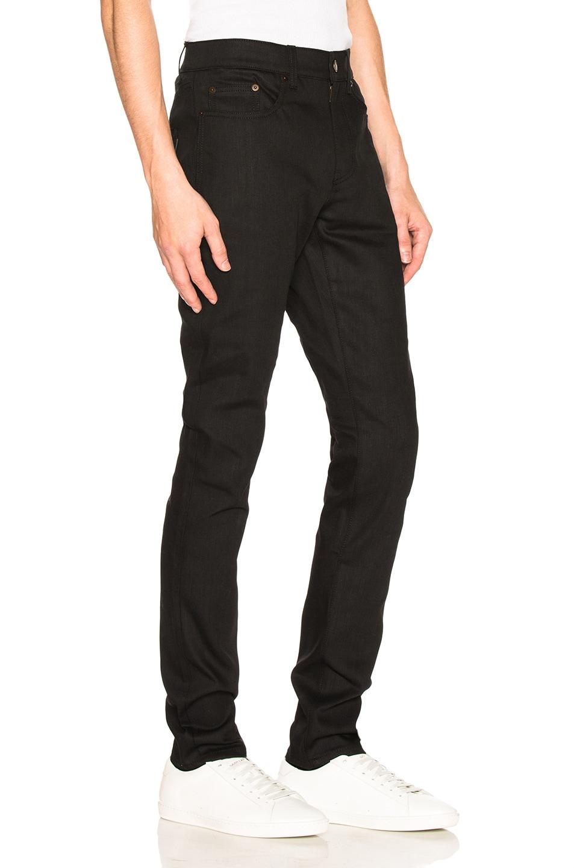 Image 2 of Saint Laurent 5 Pocket Skinny Jeans in Black