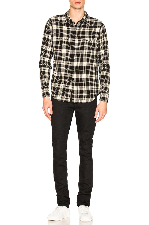 Image 4 of Saint Laurent 5 Pocket Skinny Jeans in Black