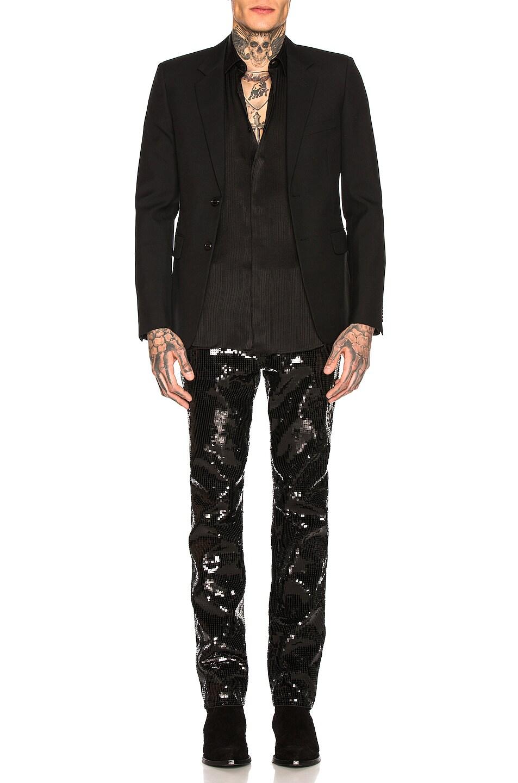 Image 4 of Saint Laurent Sequin Skinny Jeans in Used Black