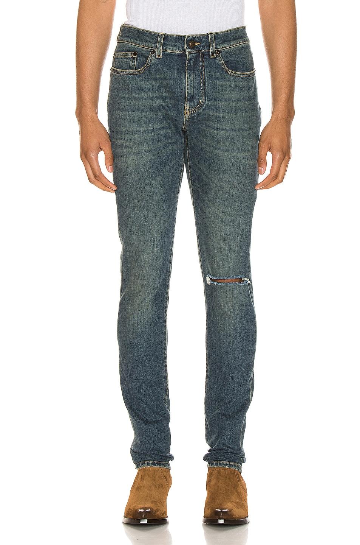 Image 1 of Saint Laurent Skinny Jean in Deep Vintage Blue