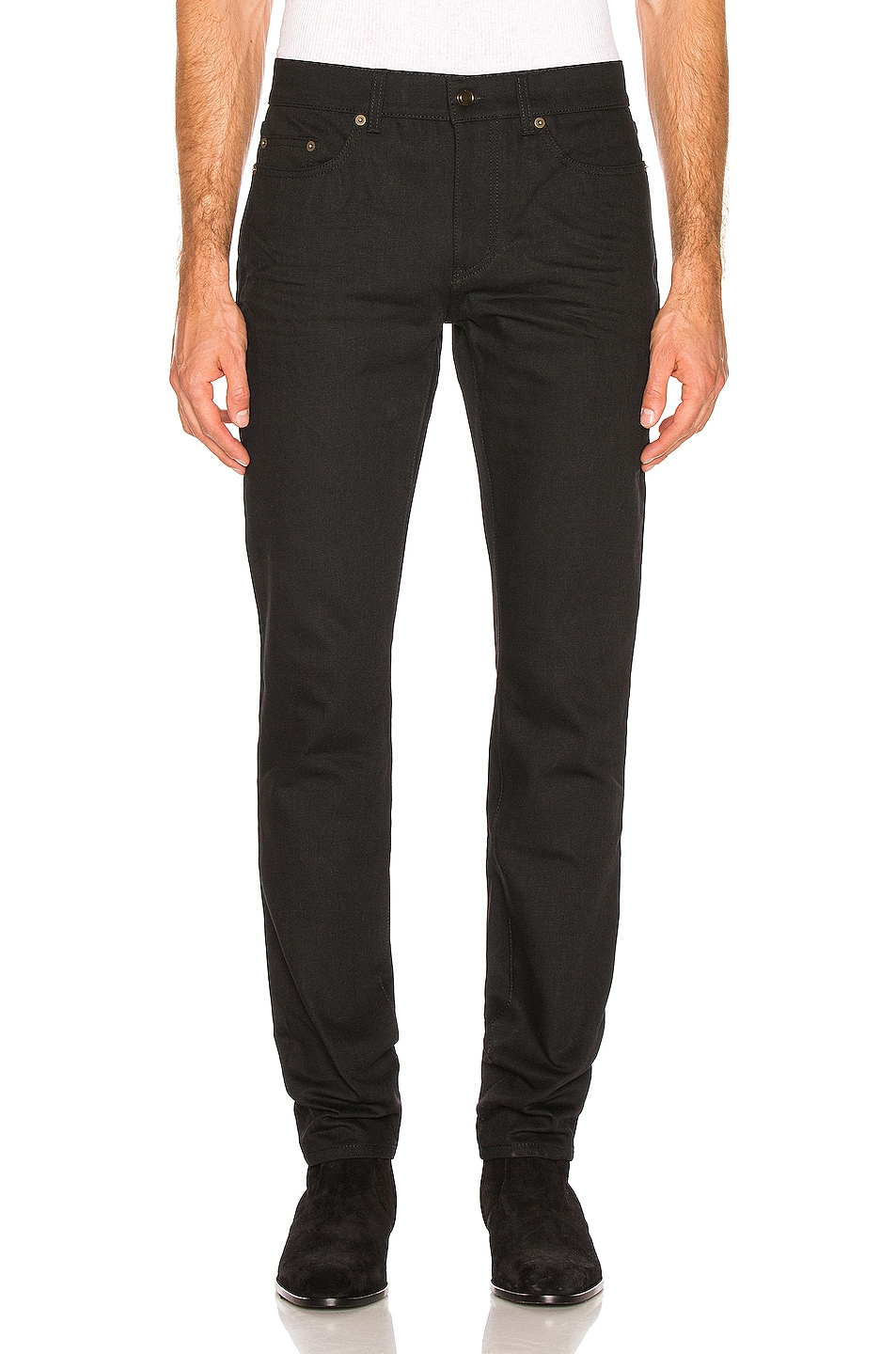 Image 1 of Saint Laurent Low Rise Skinny Jeans in Black