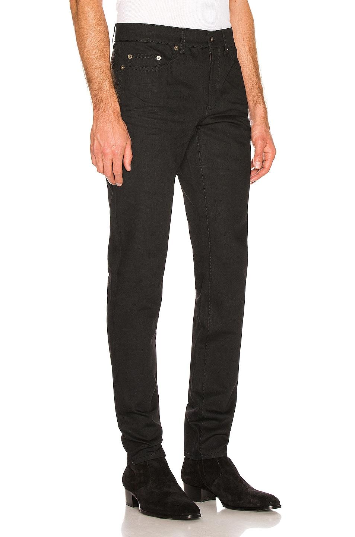 Image 2 of Saint Laurent Low Rise Skinny Jeans in Black