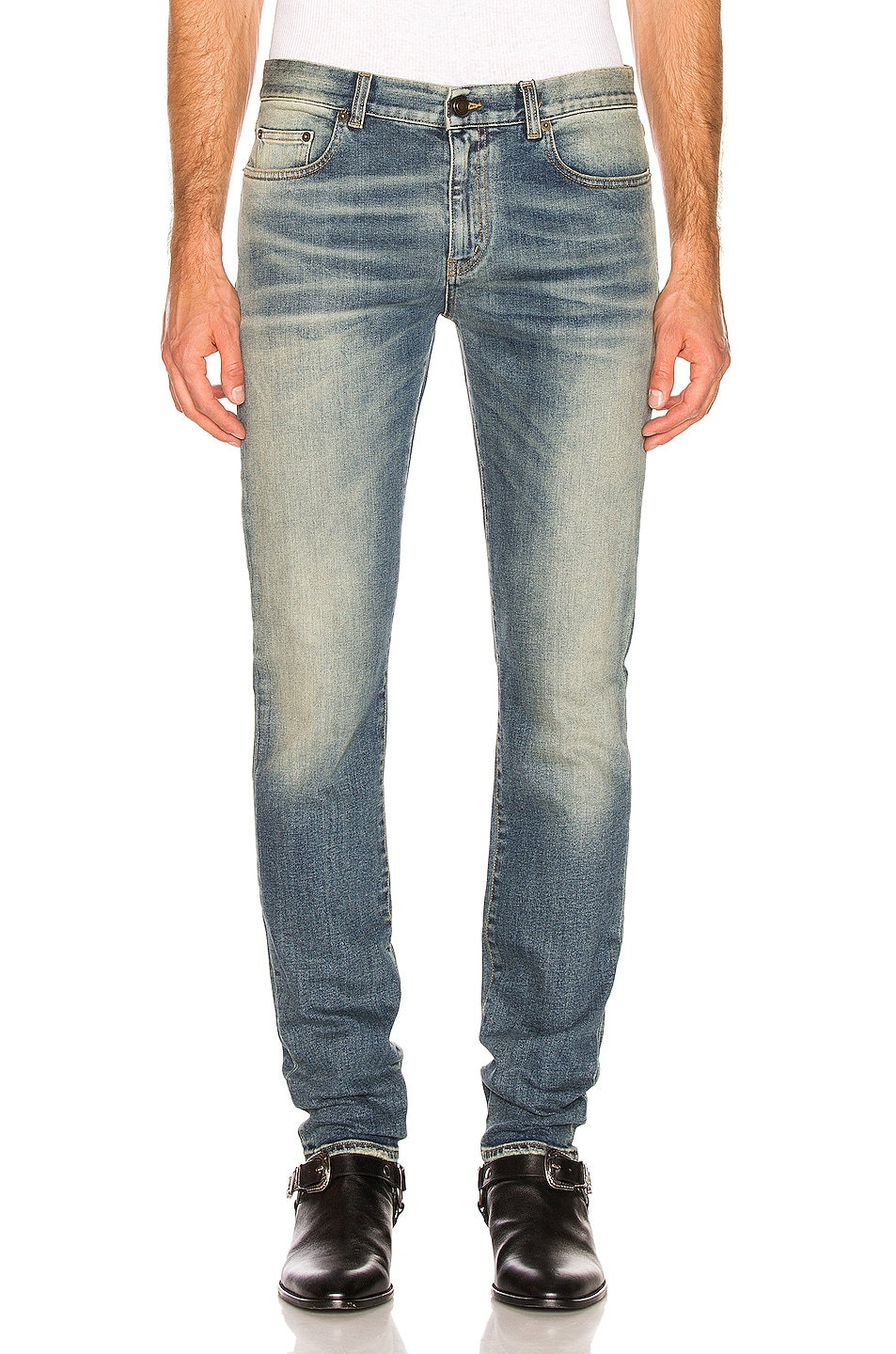 Image 1 of Saint Laurent Slim Jeans in Medium Blue