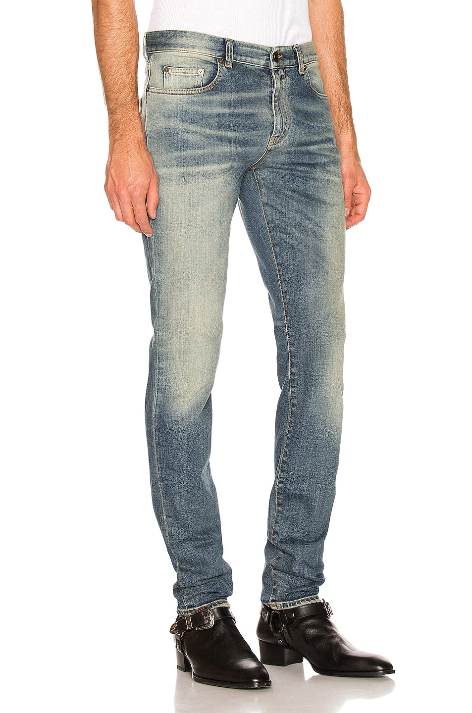Image 2 of Saint Laurent Slim Jeans in Medium Blue