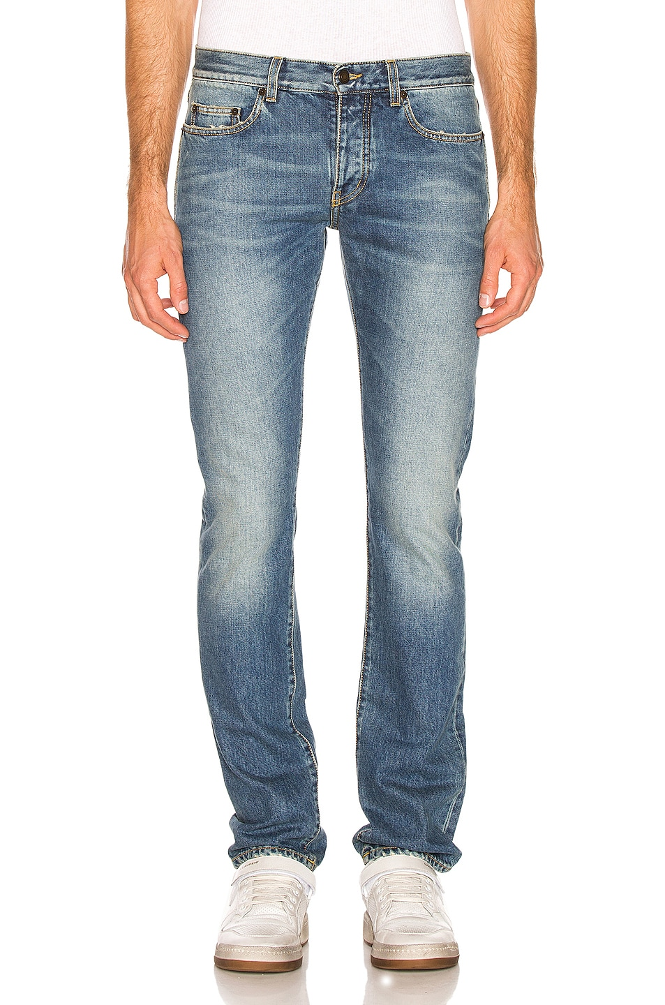 Image 1 of Saint Laurent Slim Fit Jean in Used 70's Blue
