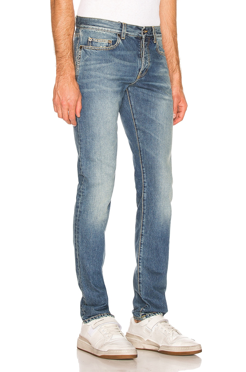 Image 2 of Saint Laurent Slim Fit Jean in Used 70's Blue