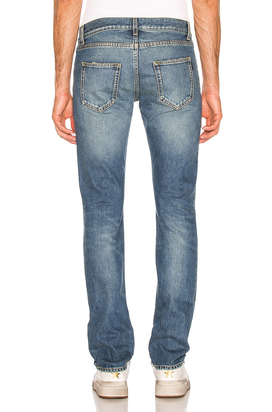Image 3 of Saint Laurent Slim Fit Jean in Used 70's Blue