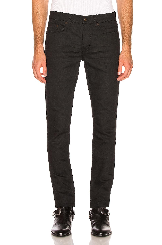 Image 1 of Saint Laurent Low Rise Skinny Jean in Used Black