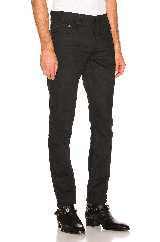 Image 2 of Saint Laurent Low Rise Skinny Jean in Used Black