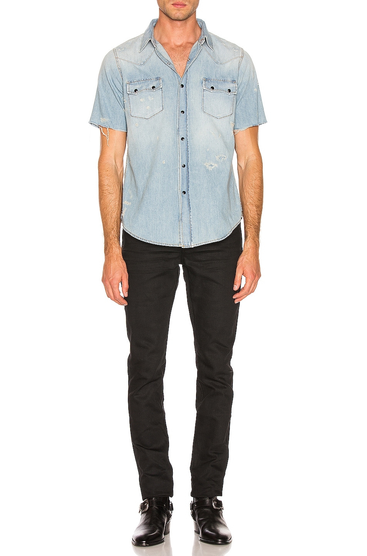Image 4 of Saint Laurent Low Rise Skinny Jean in Used Black