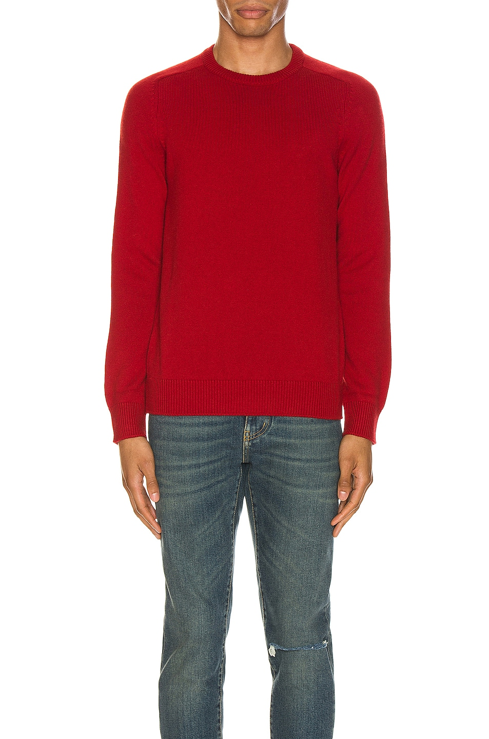 Image 1 of Saint Laurent Cashmere Sweater in Red