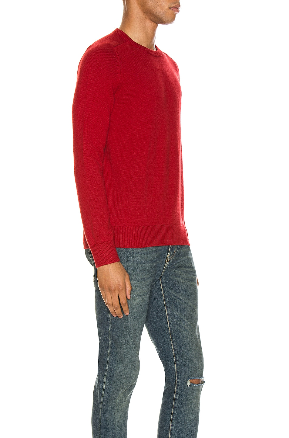 Image 2 of Saint Laurent Cashmere Sweater in Red