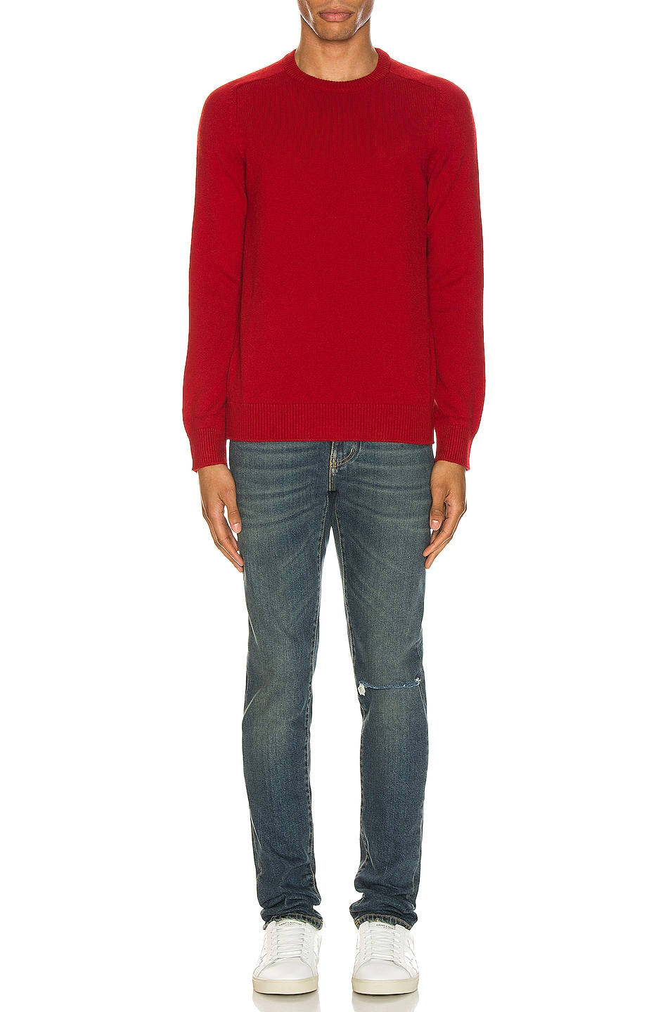 Image 4 of Saint Laurent Cashmere Sweater in Red